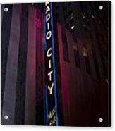 Radio City Acrylic Print