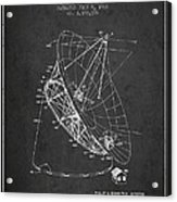 Radio Telescope Patent From 1968 - Charcoal Acrylic Print
