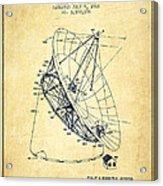 Radio Telescope Patent From 1968 - Vintage Acrylic Print