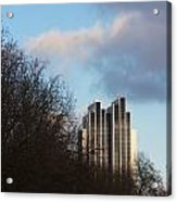 Radisson Blu Hotel Hamburg Behind Trees Acrylic Print