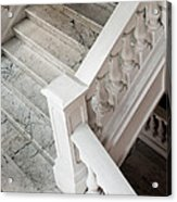 Raffle's Hotel Marble Staircase Acrylic Print