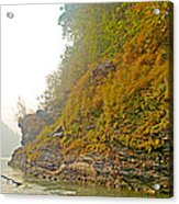Rafting Near Shore In The Seti River-nepal   Acrylic Print