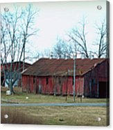 Ragged Red Shed I Acrylic Print