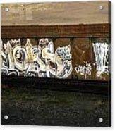 Rail Car Graffiti Acrylic Print
