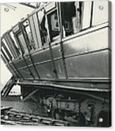 Rail Crash At Bethnal Green Four Coaches Derailed And Acrylic Print