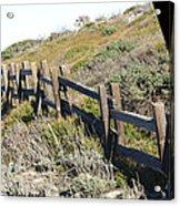 Rail Fence Black Acrylic Print by Barbara Snyder
