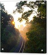 Rail Road Sunrise Acrylic Print