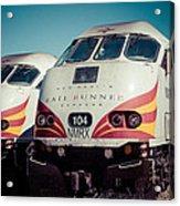 Rail Runner Twins Acrylic Print