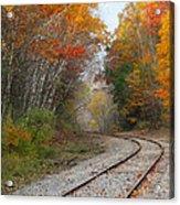 Rail Through The Colors Acrylic Print