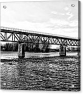 Railroad Bridge Over The Schuylkill River In Norristown Acrylic Print