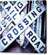 Railroad Crossings Acrylic Print