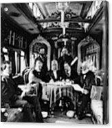 Railroad Directors, C1868 Acrylic Print