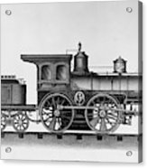 Railroad Engine, C1874 Acrylic Print
