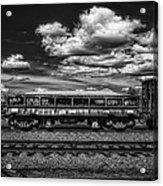 Railroad Gravel Car Acrylic Print