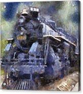 Railroad Locomotive 639 Type 2 8 2 Photo Art Acrylic Print