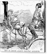 Railroad Safety, 1853 Acrylic Print