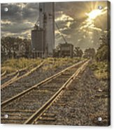 Railroad Sunrise Acrylic Print