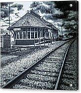Railroad Ties Marlette Michigan Acrylic Print