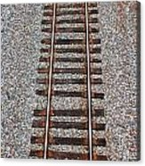 Railroad Track With Gravel Bed Acrylic Print