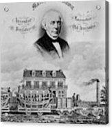 Railroad Train, 1832 Acrylic Print