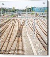 Railroad Train Yard Acrylic Print