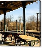 Railroad Wagons Acrylic Print