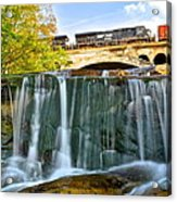 Railroad Waterfall Acrylic Print