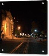 Rails Pre Dawn Acrylic Print
