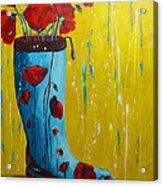 Rain Boot Series Unusual Flower Pots Acrylic Print by Patricia Awapara