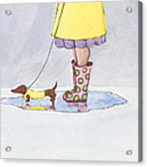 Rain Boots Acrylic Print by Christy Beckwith