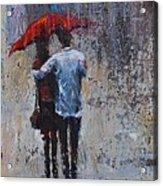 Rain Embrace Acrylic Print