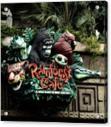 Rain Forest Cafe Signage Downtown Disneyland 03 Acrylic Print