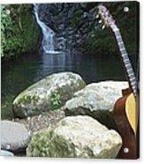 Rain Forest Guitar Acrylic Print