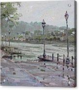 Rain In Lewiston Waterfront Acrylic Print
