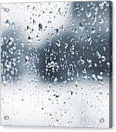 Rain In Winter Acrylic Print