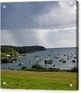 Rain Mackerel Cove Acrylic Print