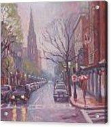Rain On Newbury St Acrylic Print