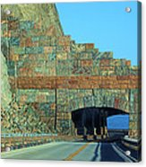 Rain Rocks Rock Shed Acrylic Print