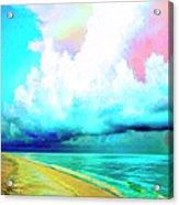 Rain Squall Na Pali Coast Acrylic Print