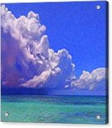 Rain Squall On The Horizon Acrylic Print
