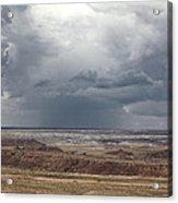Approaching Storm The Painted Desert Arizona Acrylic Print