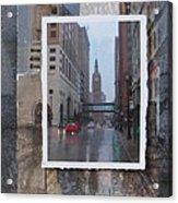 Rain Water Street W City Hall Acrylic Print