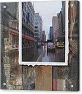 Rain Wisconcin Ave Tall View Acrylic Print