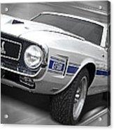 Rain Won't Spoil My Fun - 1969 Shelby Gt500 Mustang Acrylic Print