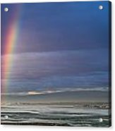 Rainbow Above The Bay Acrylic Print