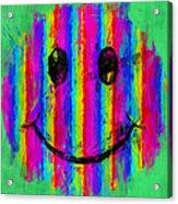 Rainbow Abstract Smiley Face Acrylic Print