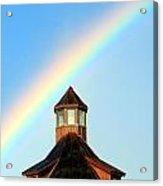 Rainbow Against Blue Sky Acrylic Print