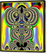 Rainbow Alien Owls Fractal 57 Acrylic Print