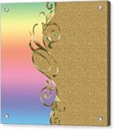 Rainbow And Gold Acrylic Print