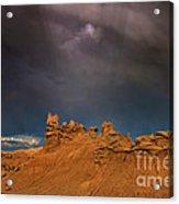 Rainbow And Sandstone Formations Fantasy Canyon Utah Acrylic Print